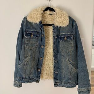 Free People Jean Sherpa Jacket